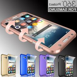 For Samsung Galaxy J7 /J3 360° Full Protective Hard Rubber
