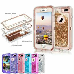 360° Liquid Glitter Bling Heavy Duty Case For iPhoneX X XR