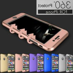 For iPhone XR 8 6 6S 7 360° Protection Acrylic Hard Case +