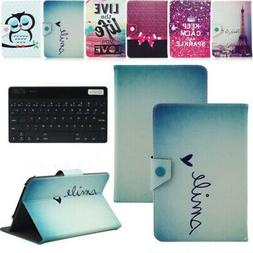 "For 7"" 7 Inch Tablet Keyboard Universal Pattern Leather Case"
