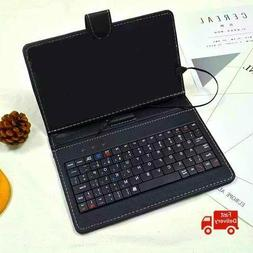 7 pu leather bluetooth keyboard with case