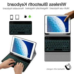 7Colors Backlit Tablet Wireless Keyboard Leather Case For Ap