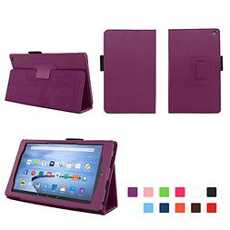 Case for Kindle Fire 7  Inch Tablet - Folio Case with Stand