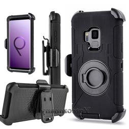 For Cell Phone Hybrid Armor Defender Case Cover With Kicksta