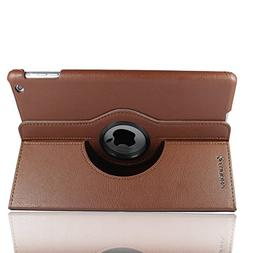 SANOXY 360 Degrees Rotating Stand  Leather Case for iPad 2 2