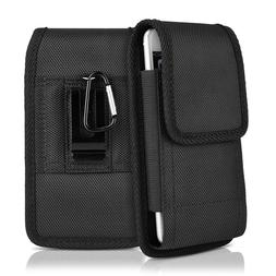 Vertical Holster Belt Clip Pouch Leather Case Sleeve for Plu