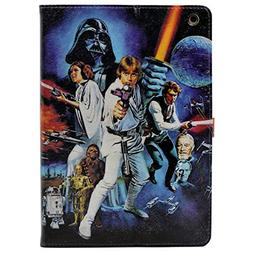 iPad 2/3/4 Case, A New Hope Characters Vintage Pattern Leath