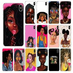African Girl Phone Case Beauty Afro Woman Cover African Sili