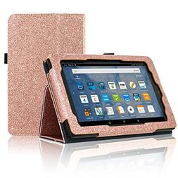 ACdream All-New Fire 7 Tablet  Case, Premium PU Folio Leathe