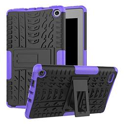 GreenElec Amazon Fire 7 2017 Tablet Case - Dual Layer Hard P
