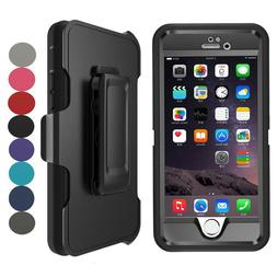 For Apple iPhone 7 8 Plus Defender Case Cover With Screen Pr