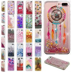 For Apple iPhone 7 & 7 PLUS Liquid Glitter Quicksand Hard Ca