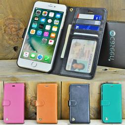 For Apple iPhone 7 8 Plus XS Max Luxury Leather Flip Stand W