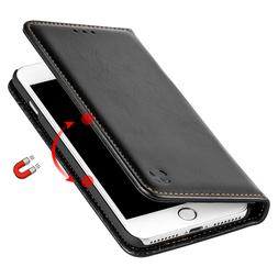 Black Removable Leather Flip Wallet Case Protective Cover Fo