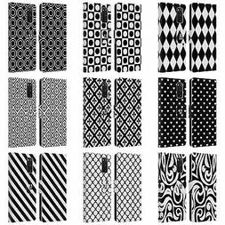 HEAD CASE DESIGNS BNW PATTERNS LEATHER BOOK CASE FOR SAMSUNG
