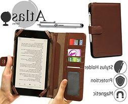 Navitech Brown Book Style Case / Cover With Stylus For The F