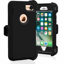 Case For iPhone 7 & iPhone 8 With Screen &  Black