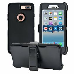 Defender Case With Belt Clip & Screen Protector For iPhone 7