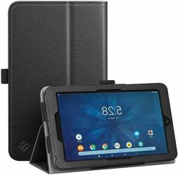 Case for Onn 7 inch Tablet Slim Vegan Leather Folio Stand Co