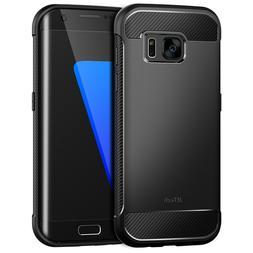 JETech Case for Samsung Galaxy S7 Edge Shock-Absorption Carb