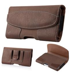 Cell Phone iPhone Horizontal Carrying Leather Pouch Case Cov