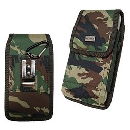 Cell Phone Pouch Tactical Holster Metal Belt Clip Loop Camou