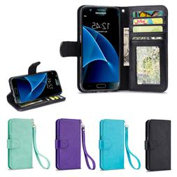IZENGATE Cell Phone Wallet Case Flip Cover Premium Synthetic