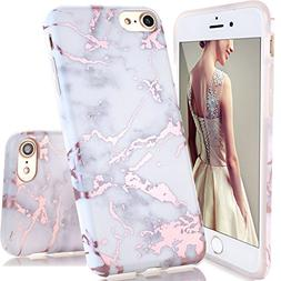 DOUJIAZ Compatible with iPhone 7 Case,iPhone 8 Case,Shiny Ro