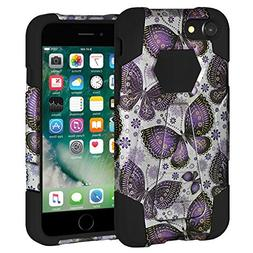 AMZER Designer Case for Apple iPhone 7 - Gold Violet Butterf