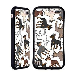 Head Case Designs Doberman Dog Breed Patterns 2 Hybrid Case