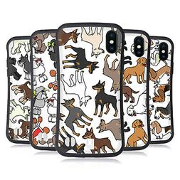 HEAD CASE DESIGNS DOG BREED PATTERNS 2 HYBRID CASE FOR APPLE