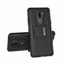 AMZER Dual Layer Hybrid Warrior Case with Stand for LG G7 Th