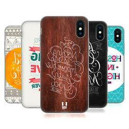 HEAD CASE DESIGNS FAMOUS BIBLE VERSES SOFT GEL CASE FOR APPL