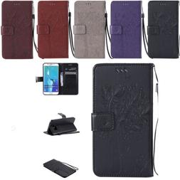 Fashion Flip Leather Wallet Card Strap Stand Case Cover For