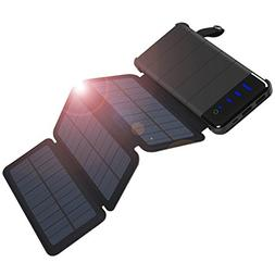 COOPOW 10000mAh Fast Solar Charger, Detachable Design with 3