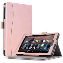 Infiland All-New Fire 7 Case - Smart Folio Stand Cover with