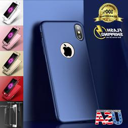 Fits Apple iPhone Ultra Thin Slim Hard Case Cover + Tempered