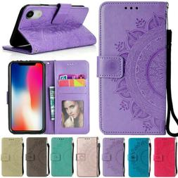 flip pattern leather wallet case for iphone