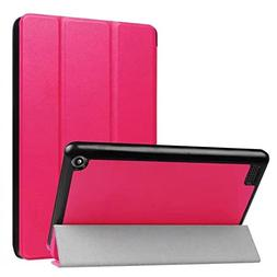 Tikeda Folio Case for Fire 7 Tablet  Slim Leather Case with