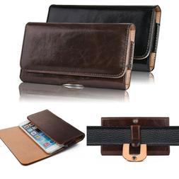 Genuine Leather Magnetic Holster Belt Clip Pouch Sleeve Case