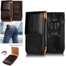 Genuine Vertical Leather Waist Case Cover Belt Clip Holster