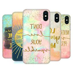 HEAD CASE DESIGNS GOLD QUOTES HARD BACK CASE FOR APPLE iPHON