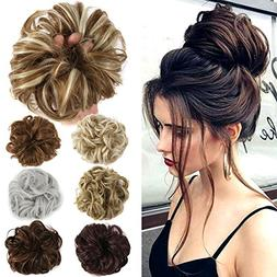 Lelinta Hair Bun Extensions Wavy Curly Messy Hair Extensions