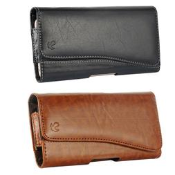 Cell Phones Pouch Case Horizontal Leather Holster Carrying C