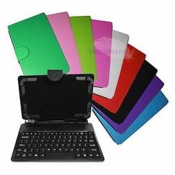 "HyperTab PU Leather Stand Cover Keyboard Case for 7"" Tablet"