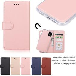 For iPhone 11 Pro Max 7 8 Plus XS XR 6s Leather Flip Wallet