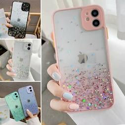 For iPhone 12 Pro Max 11 XR XS MAX 8 7 Case Slim Bling Glitt
