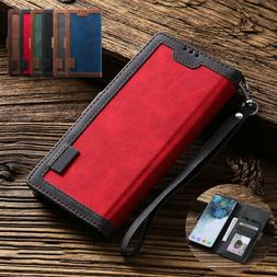 For iPhone 12 Pro Max 11 XR XS 7 6s 8 Plus Leather Wallet St