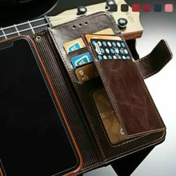 For iPhone 12 Pro Max 11 Xs Xr X 8 7 6 Plus Leather Wallet C