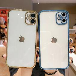 For iPhone 12 Pro Max 11 XS XR 8 7 Plus Clear Shockproof TPU